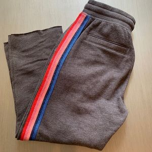 Spiritual Gangster Striped Cropped Sweatpants - XS